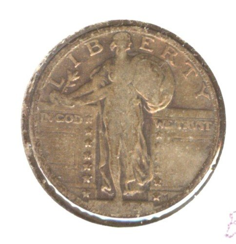 1924 (F) STANDING LIBERTY QUARTER (B33) SILVER