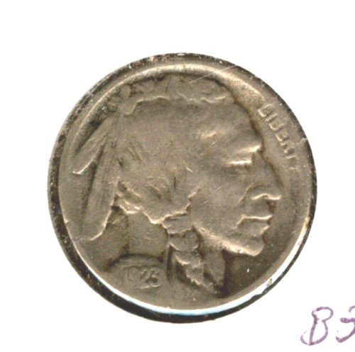 1923S (VF) BUFFALO NICKEL (B35) 7/8 HORN