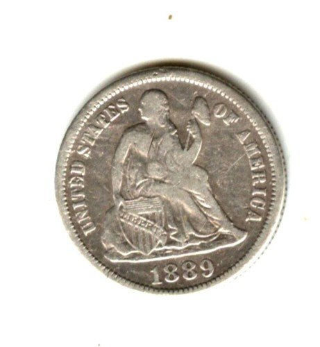 1889 (VF) SEATED LIBERTY DIME (W139) SILVER