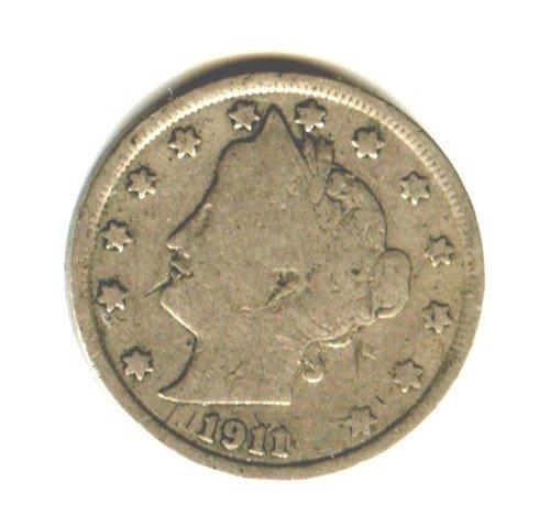1911 (G) LIBERTY NICKEL (EB1234)