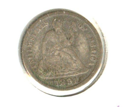 1891O (VF) SEATED LIBERTY DIME (M11)