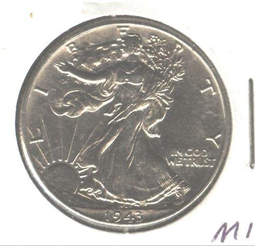 1943 (BU+) WALKING LIBERTY HALF DOLLAR (M11)