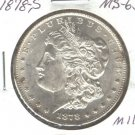 1878S (BU+) MORGAN DOLLAR (M11) SILVER