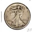 1918 (VF) WALKING LIBERTY HALF DOLLAR (B34)