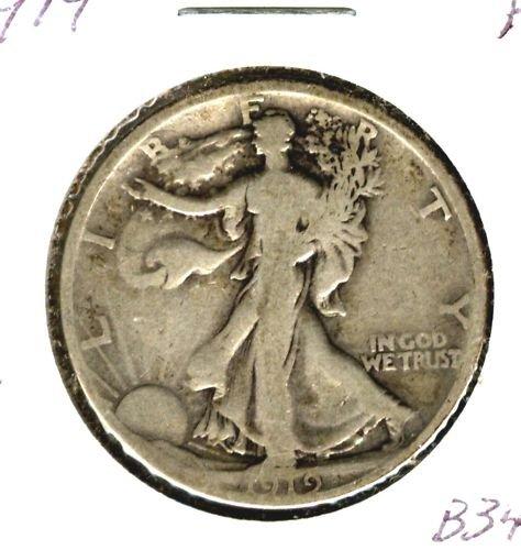 1919 (F) WALKING LIBERTY HALF DOLLAR (B34)