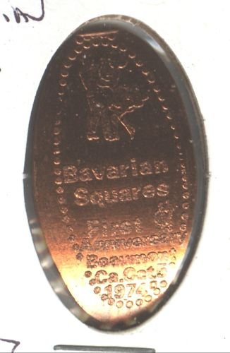 ELONGATED PENNY TOKEN(BAVARIAN SQUARES) EB1096