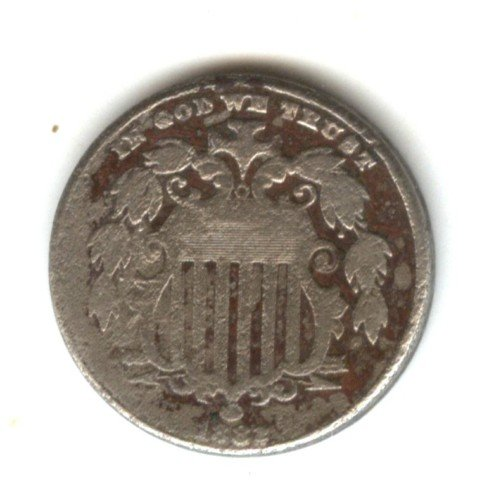 1882 (G) SHIELD NICKEL (W126)