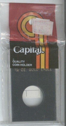 CAPITAL DELUXE COIN HOLDER FOR 1/4 OZ. GOLD EAGLE BLACK
