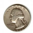 1948D (VF) WASHINGTON QUARTER (W117) SILVER