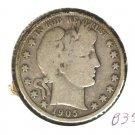 1905S (VG+) BARBER HALF DOLLAR (B35) SILVER