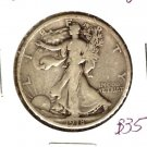 1918S (VF) WALKING LIBERTY HALF DOLLAR (B35) SILVER