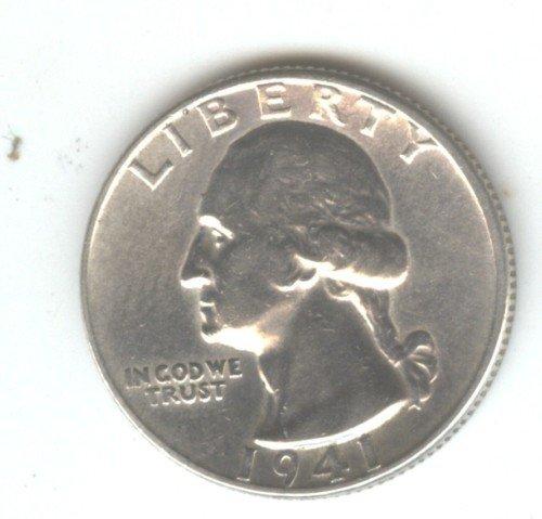 1941 (AU) WASHINGTON QUARTER (W95) SILVER