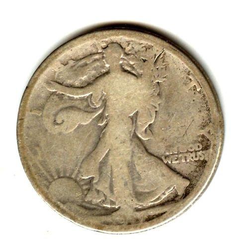 1917D (G) WALKING LIBERTY HALF DOLLAR (W94) REV. SILVER