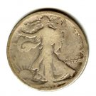 1917D (G) WALKING LIBERTY HALF DOLLAR (W94) REV. SILVER