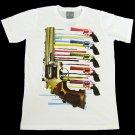 T-shirt  SP13 L Paint Gun Melt White Funky Punk Rock