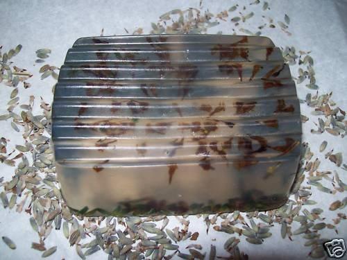 Handmade Soap~w/ Lavender Buds~LAVENDER SANDALWOOD EOs