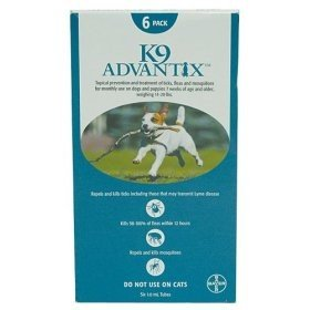 K-9 Advantix Dog  11 to 20 lbs.  6 pk.
