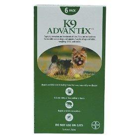 K-9 Advantix Dog  under 10 lbs.   6pk