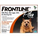 Frontline Plus Dog     6 pk.      Up to 22 lbs.