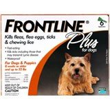 Frontline Plus Dog     3 pk.      Up to 22 lbs.