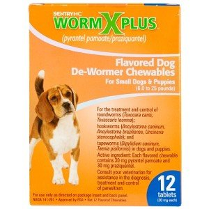 Sentry HC WormX Plus Dewormer For Small Dogs And Puppys