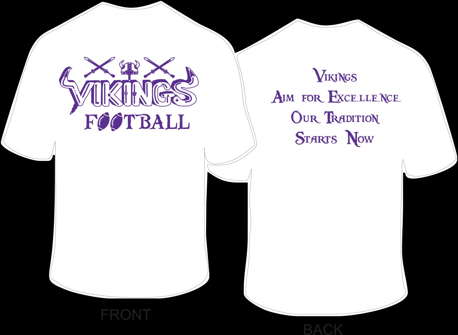Vikings Name T-Shirt (Child: M, L, XL; Adult: S, M, L, XL)