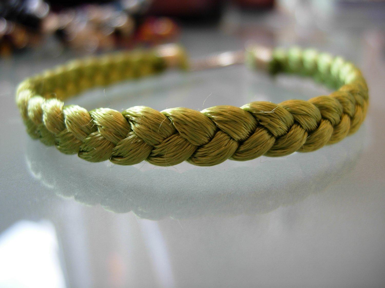 Braided Bracelet-Apple Green