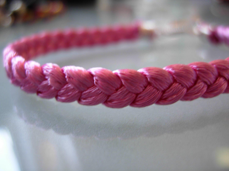 Braided Bracelet-HOT Pink