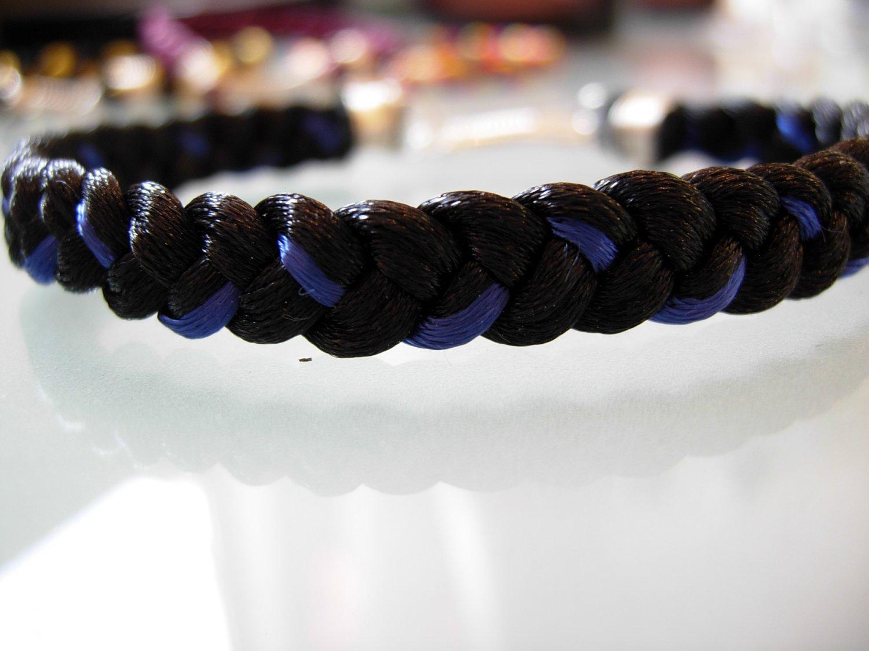 Braided Bracelet-Blakc/Blue