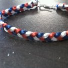 Braided Bracelet-Red/White/Blue