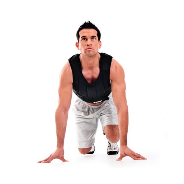 TKO 20 lb. Adjustable Weighted Strength Training Vest