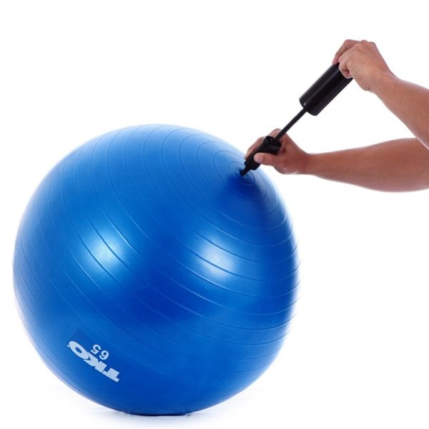 New TKO 65cm Rubber Exercise Fitness Ball w/ Chart Pump