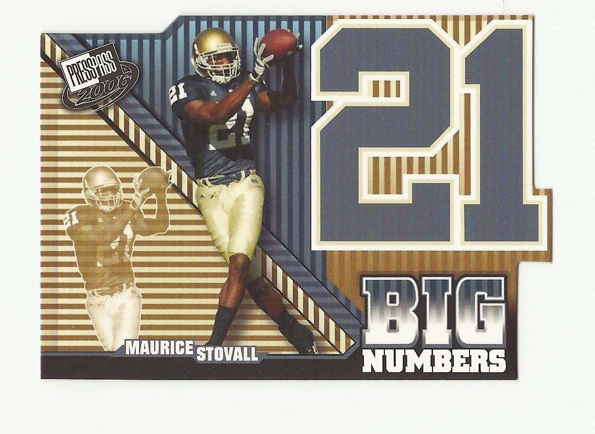 Maurice Stovall 2006 Press Pass Big Numbers Insert  Rookie Card #BN15 Tampa Bay Buccaneers