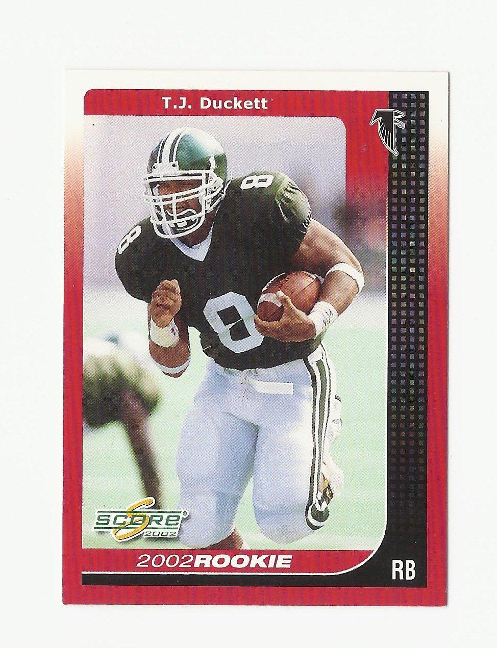 T.J. Duckett 2002 Score Rookie Card #262 Atlanta Falcons