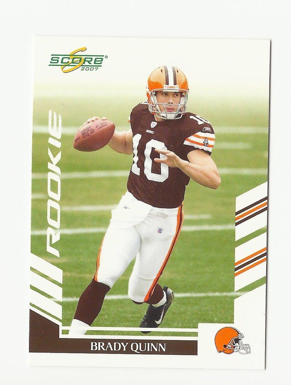 Brady Quinn 2007 Score Rookie Card #371 Cleveland Browns/Denver Broncos