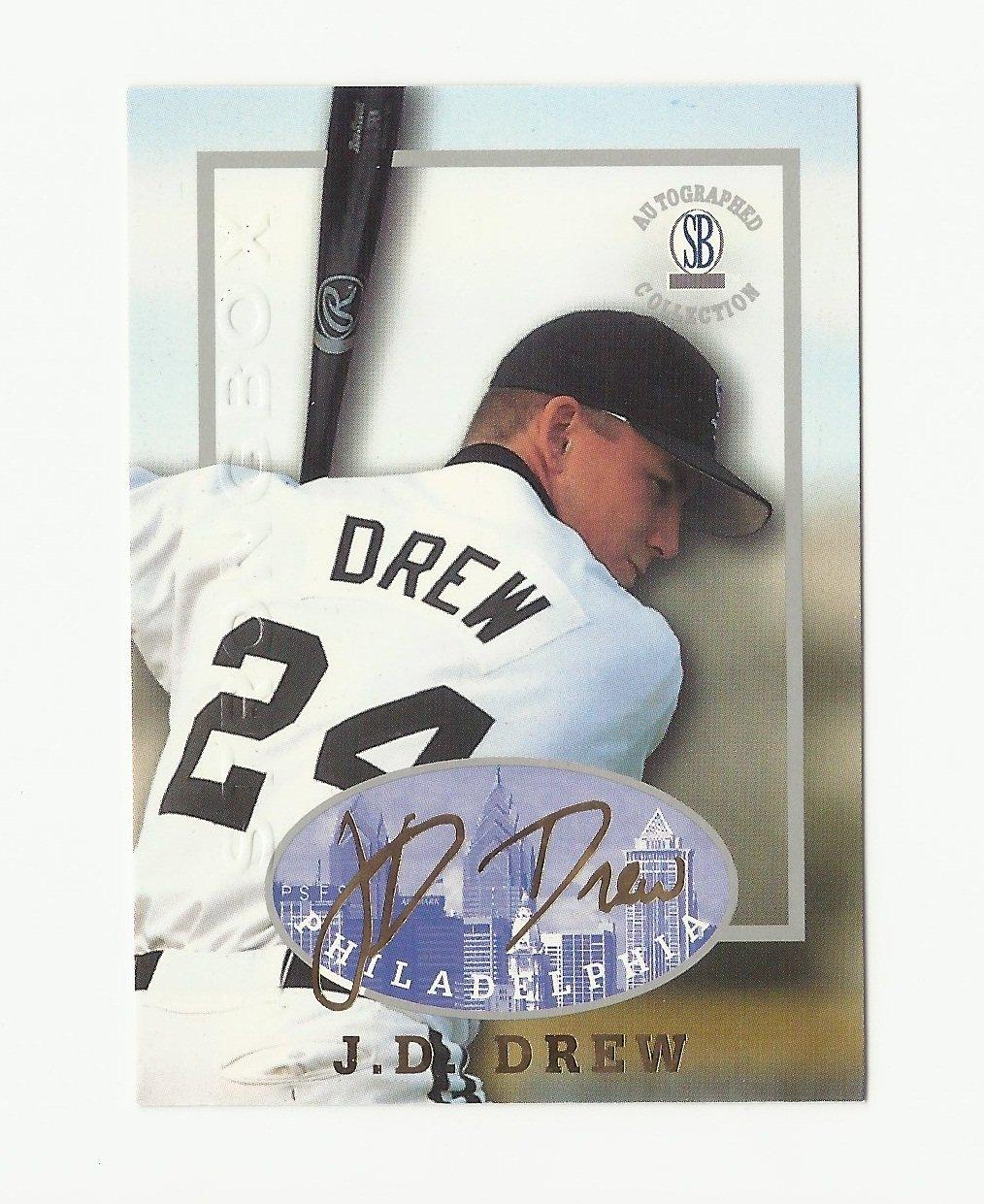 J.D. Drew 1997 The Score Board Strongbox Autographed Collection Card #3 Philadelphia Phillies