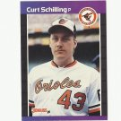 Curt Schilling 1989 Donruss Rookie Card #635 Baltimore Orioles