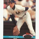 Tyrone Hill 1991 Stadium Club Rookie Card #84 New York Yankees