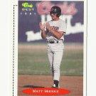 Matt Mieske 1991 Classic Best Rookie Card #8 Milwaukee Brewers