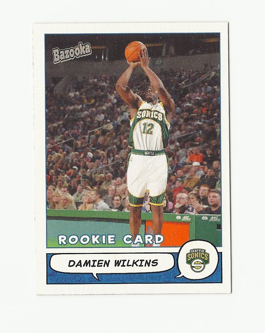 Damien Wilkins 2004-05 Bazooka Rookie Card #179 Seattle Supersonics/Oklahoma City Thunder