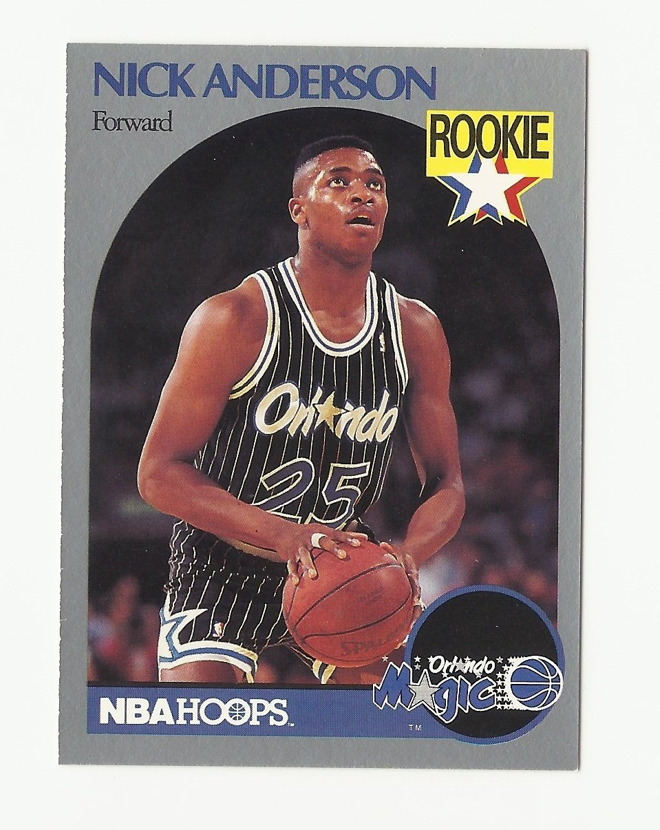 Nick Anderson 1989-90 NBA Hoops Rookie Card #214 Orlando Magic