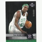 Tony Allen 2004 Upper Deck Rookies Rookie Card #115 Boston Celtics