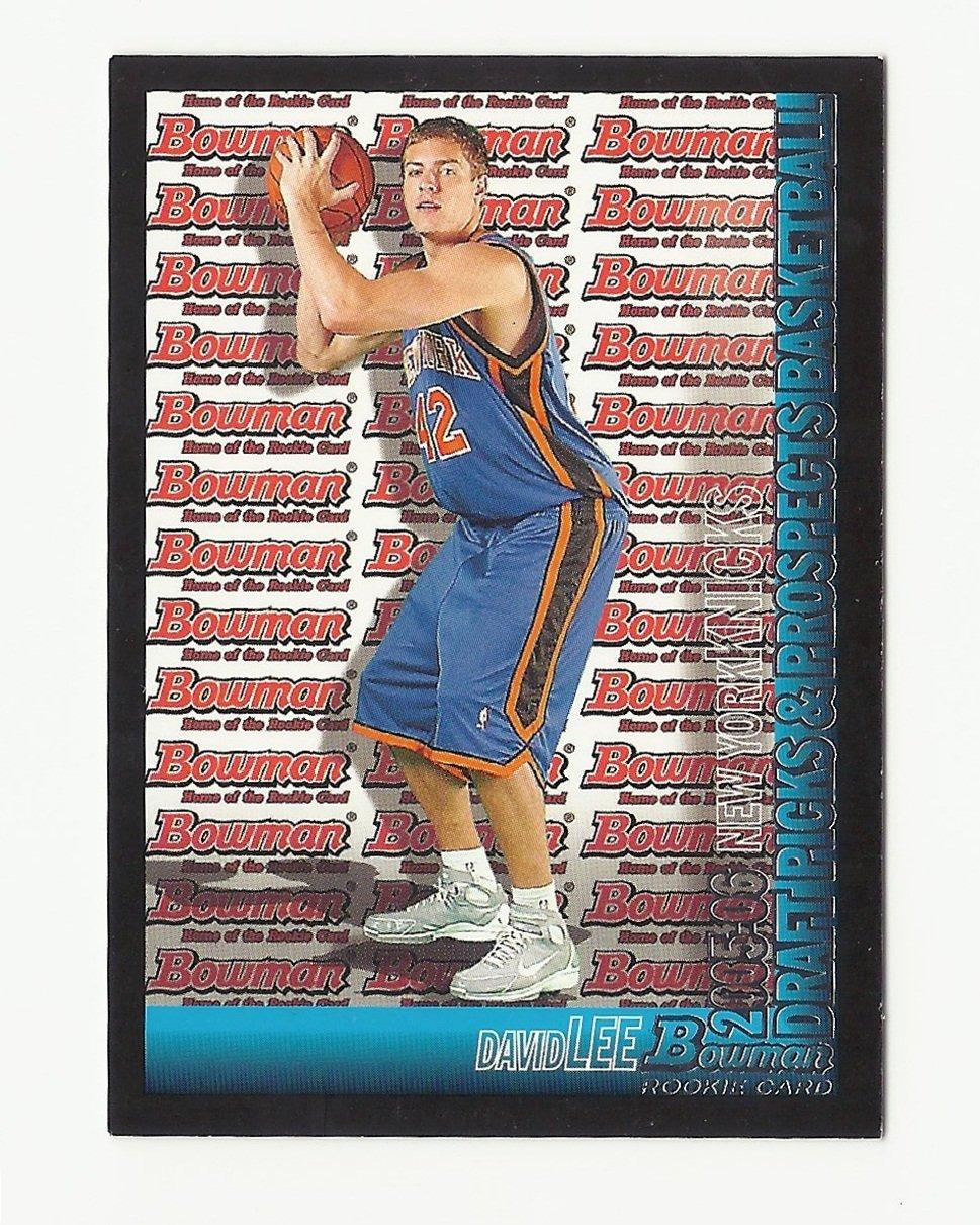 David Lee 2005 Bowman Rookie Card #143 New York Knicks/Golden State Warriors