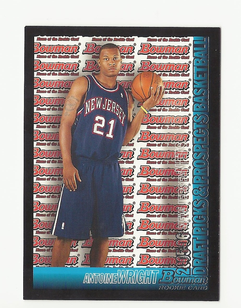 Antoine Wright 2005 Bowman Rookie Card #113 New Jersey Nets