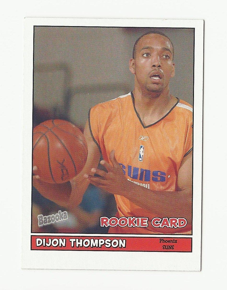 Dijon Thompson 2005 Bazooka Rookie Card #212 Phoenix Suns
