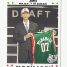 Yi Jianlian 2007 Topps 50th Anniversary Rookie Card #6 Milwaukee Bucks