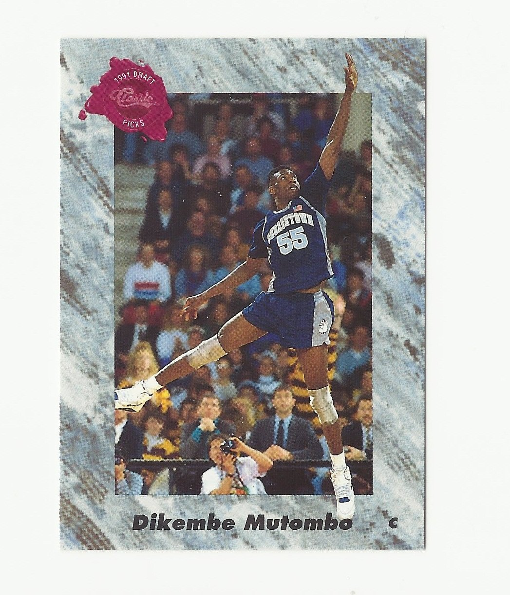 Dikembe Mutombo 1991 Classic Draft Picks Rookie Card #151 Denver Nuggets