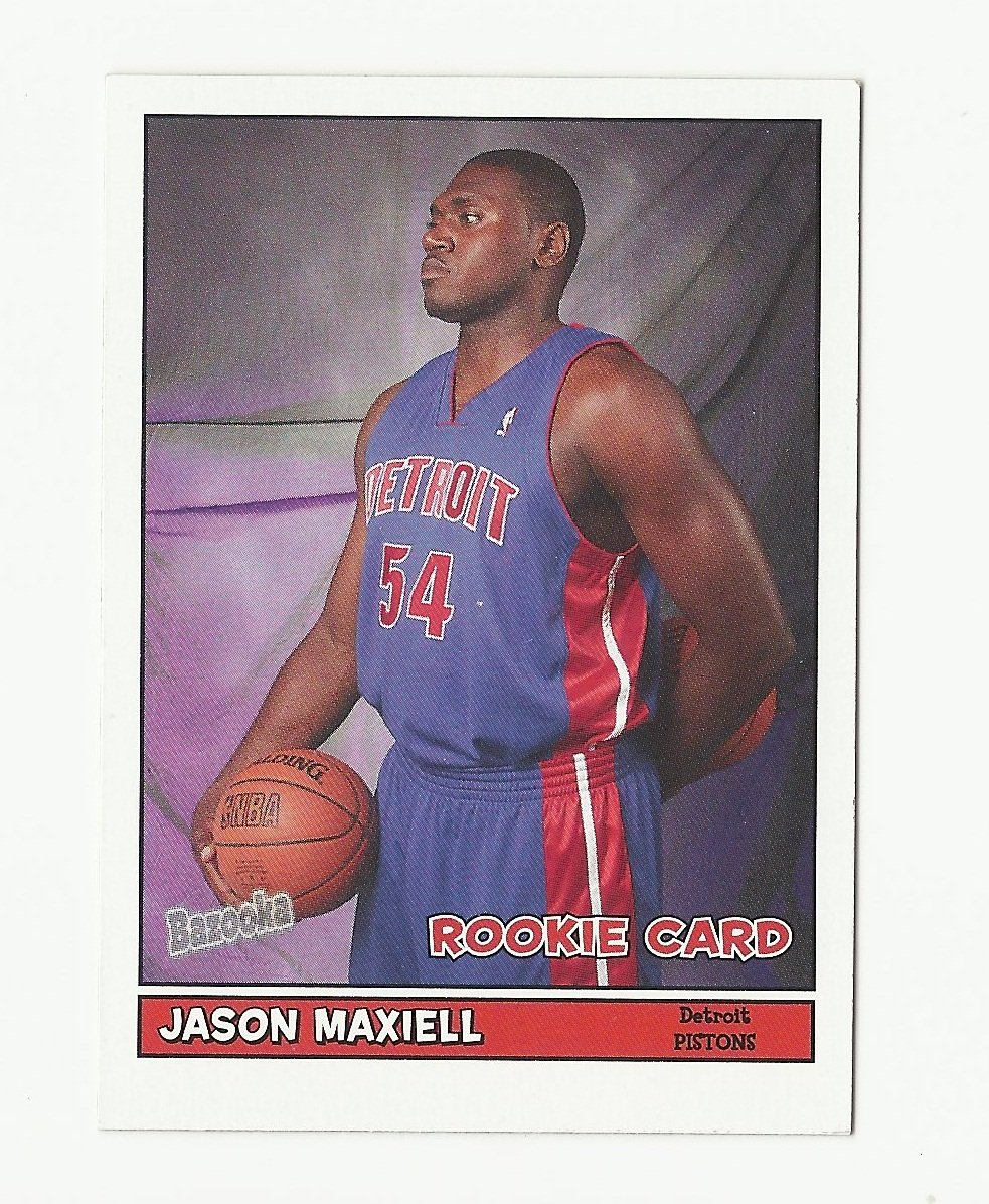 Jason Maxiell 2005 Bazooka Mini Rookie Card #198 Detroit Pistons