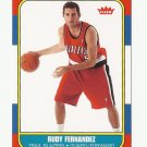 Rudy Fernandez 2008-09 Fleer 1986-87 Rookie Card #86R-192 Portland Trailblazers
