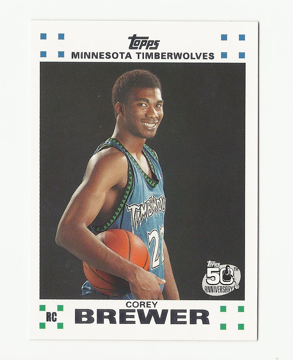Corey Brewer 2007 Topps 50th Anniversary Rookie Card #7 Minnesota Timberwolves/Denver Nuggets